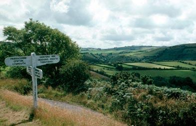 Exmoor signpost landscape