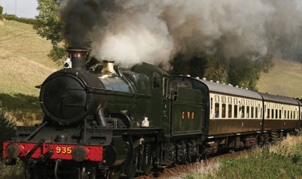 steam train west country cottages